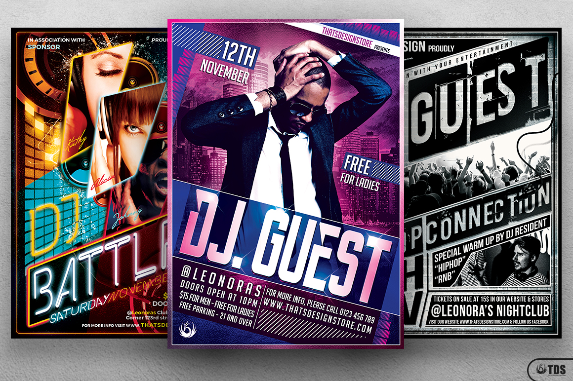 Special DJ Flyer Bundle V1 example image 2