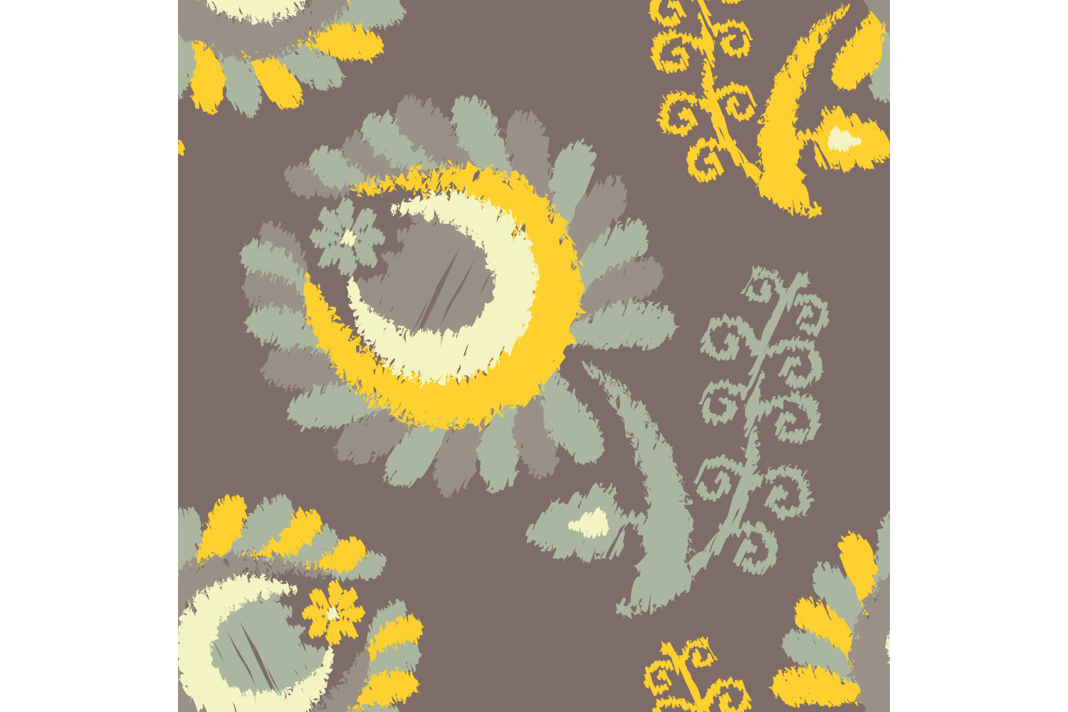 Decorative flowers. Set of 10 seamless patterns. example image 3