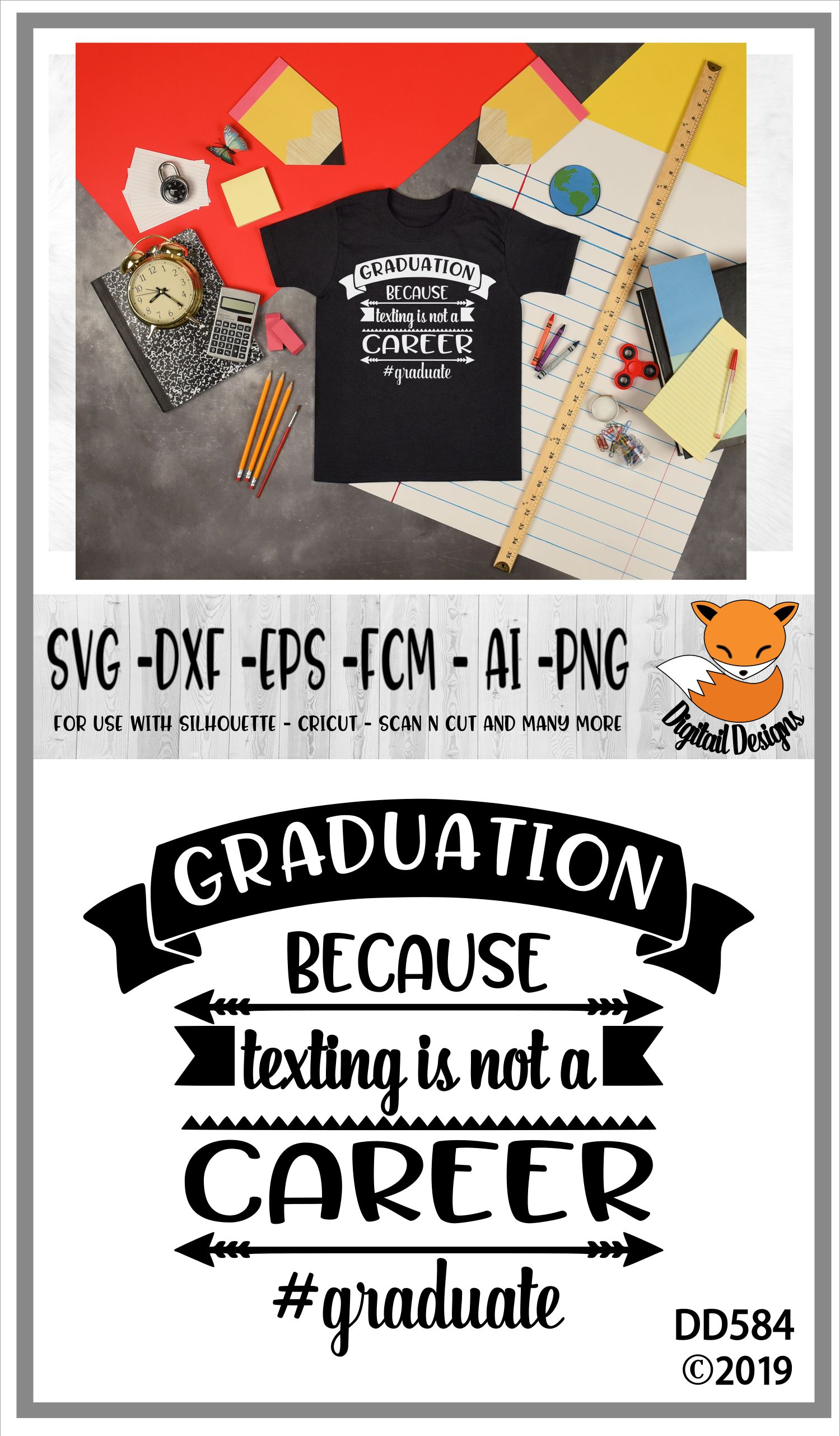 Funny Graduation Texting Is Not A Career SVG example image 2