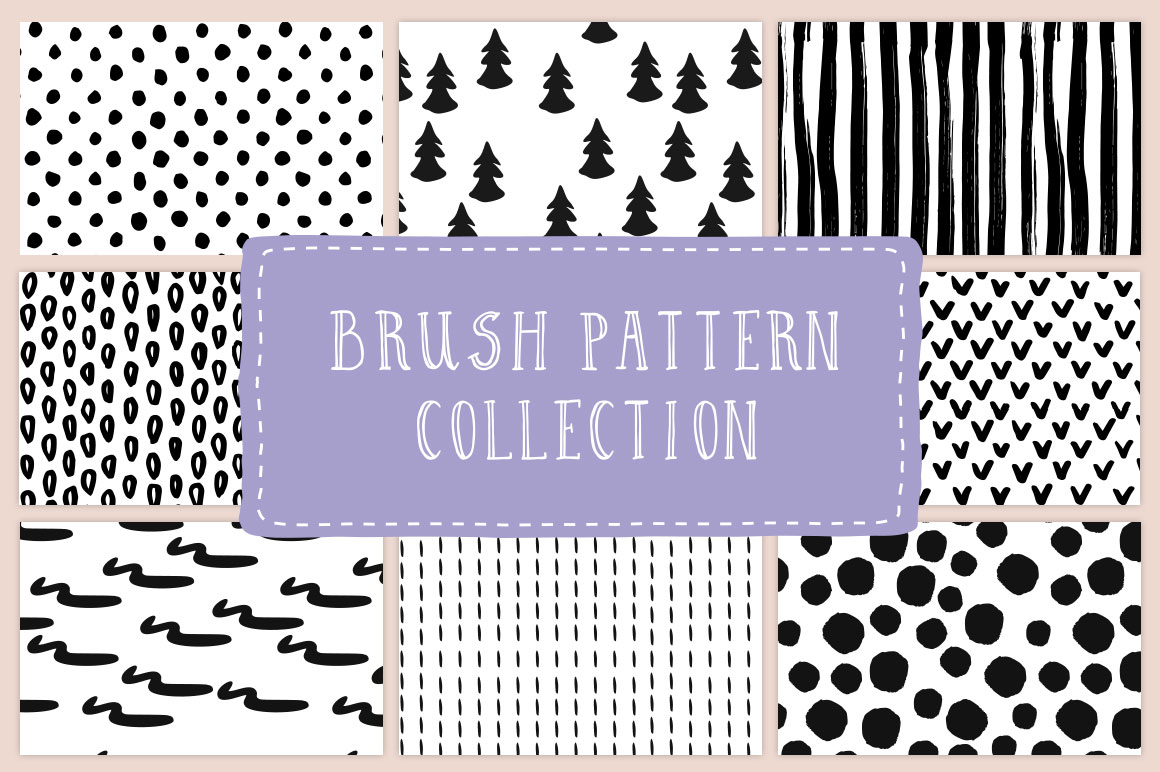 Brush pattern collection  example image 1