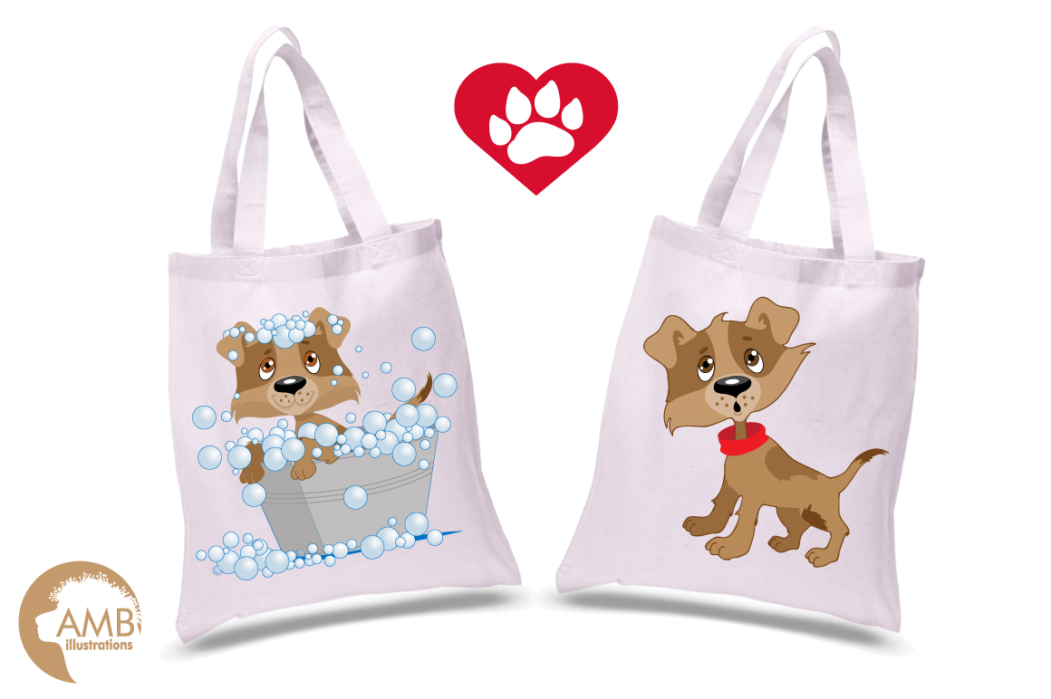 Day in a dog's life clipart, graphics, illustrations AMB-594 example image 5