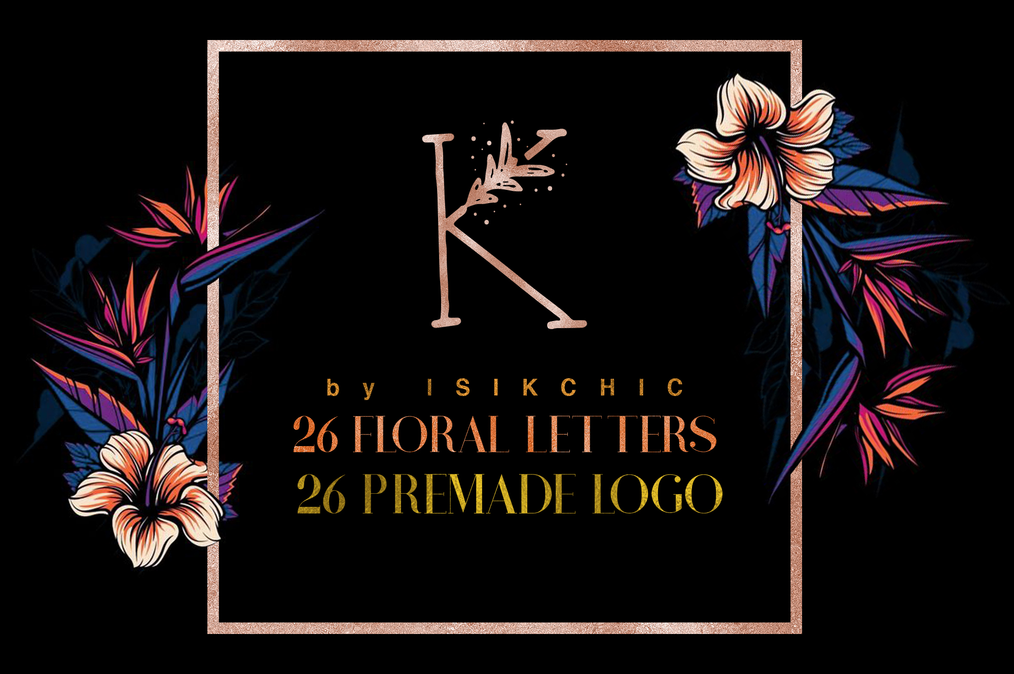 MINIMAL FLORAL LETTER AND LOGO KIT example image 1