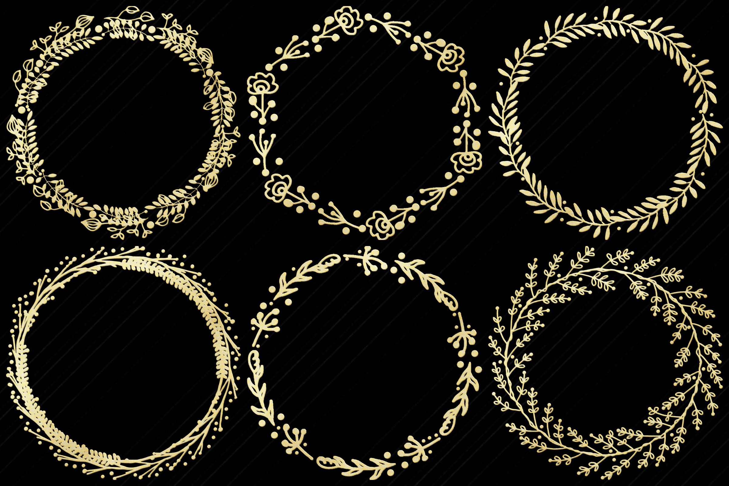 Gold Foil Wreaths Clip Art...Christmas and Other example image 3