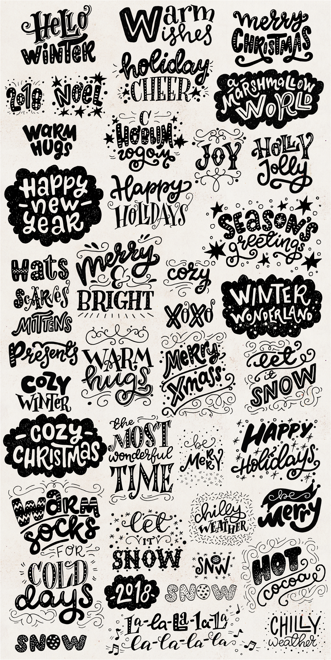 Cozy Christmas Lettering & Clipart example image 4