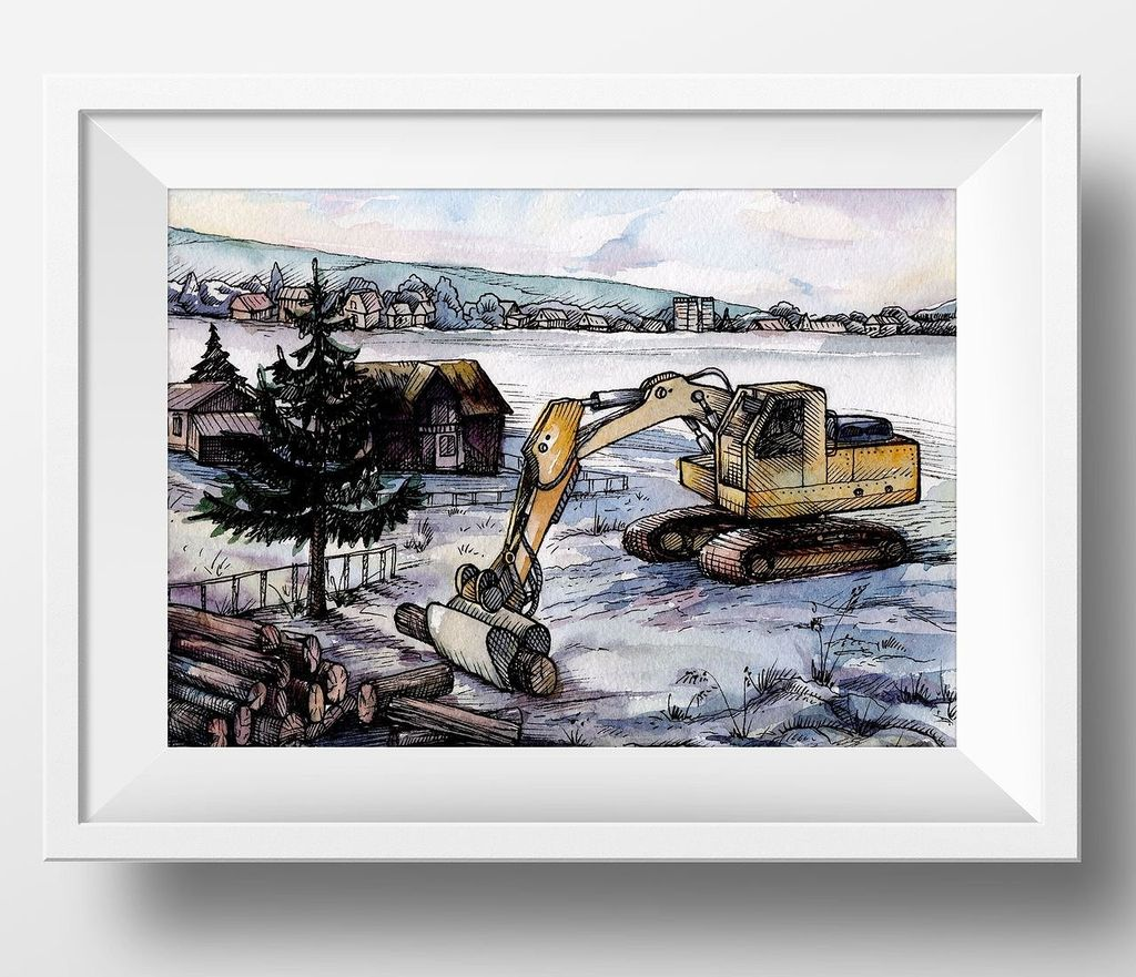 Countryside Watercolor Landscapes example image 11