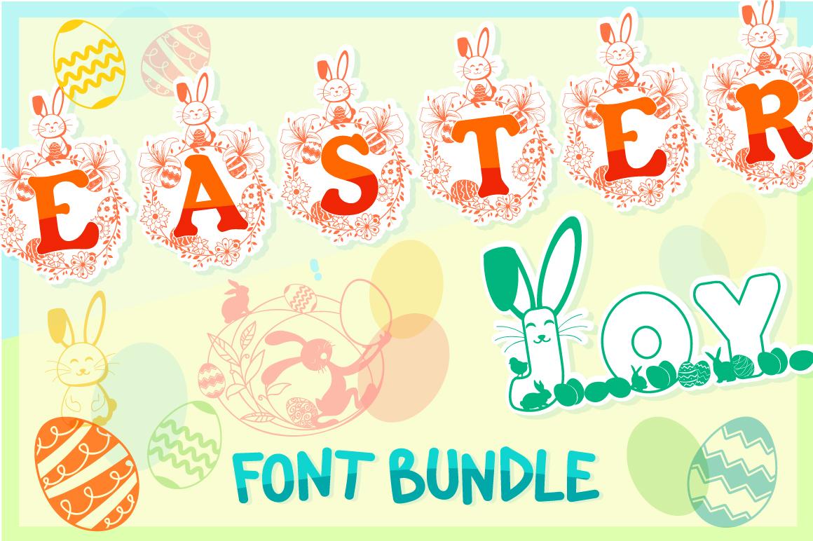 The Easter Joy Font Bundle example image 1