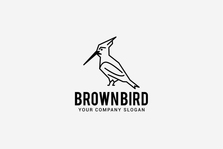 brown bird logo example image 3