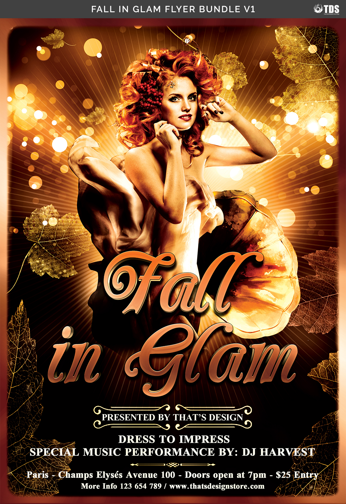 Fall in Glam Flyer Bundle V1 example image 12