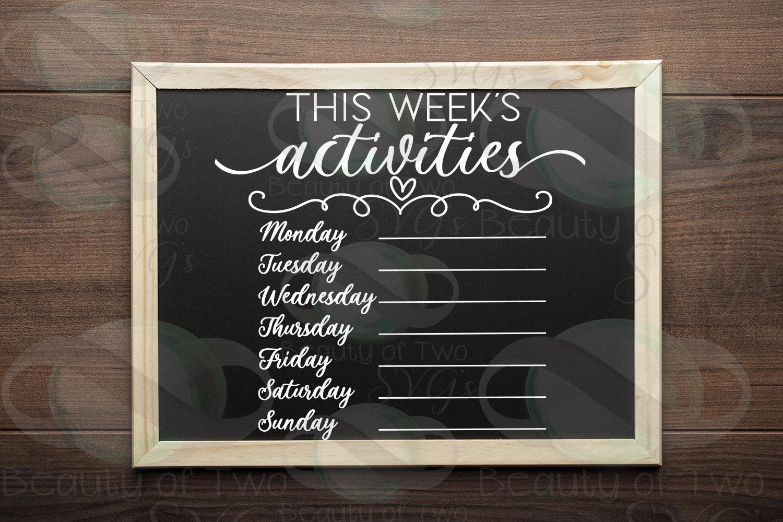 This week's organization svg Bundle, Menu svg, chores svg example image 8