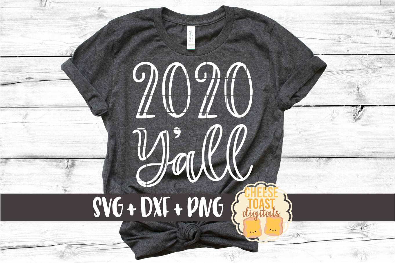 2020 Y'all - New Year SVG PNG DXF Cut Files example image 1