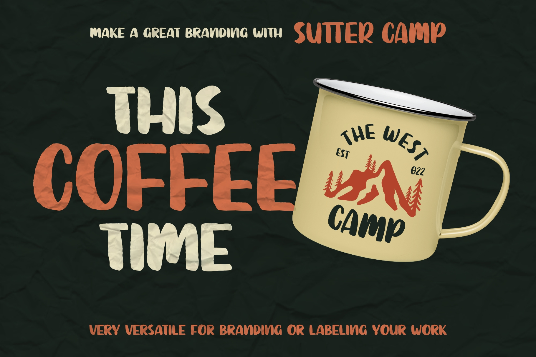 SUTTER CAMP - Adventure Typeface example image 6