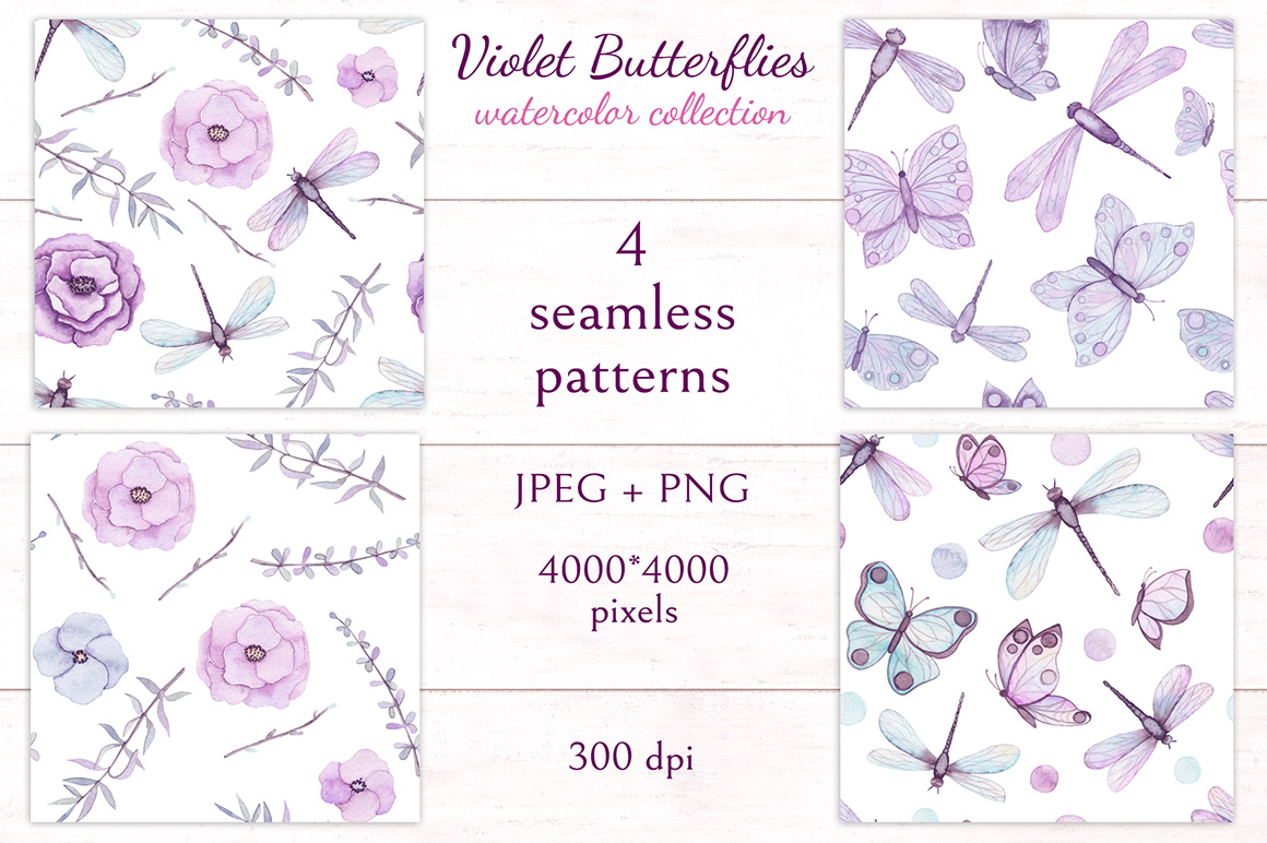 Violet Butterflies example image 9