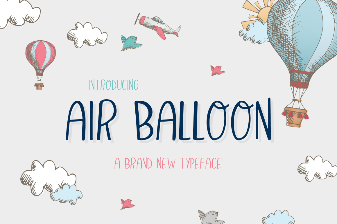 Air Balloon Font example image 1