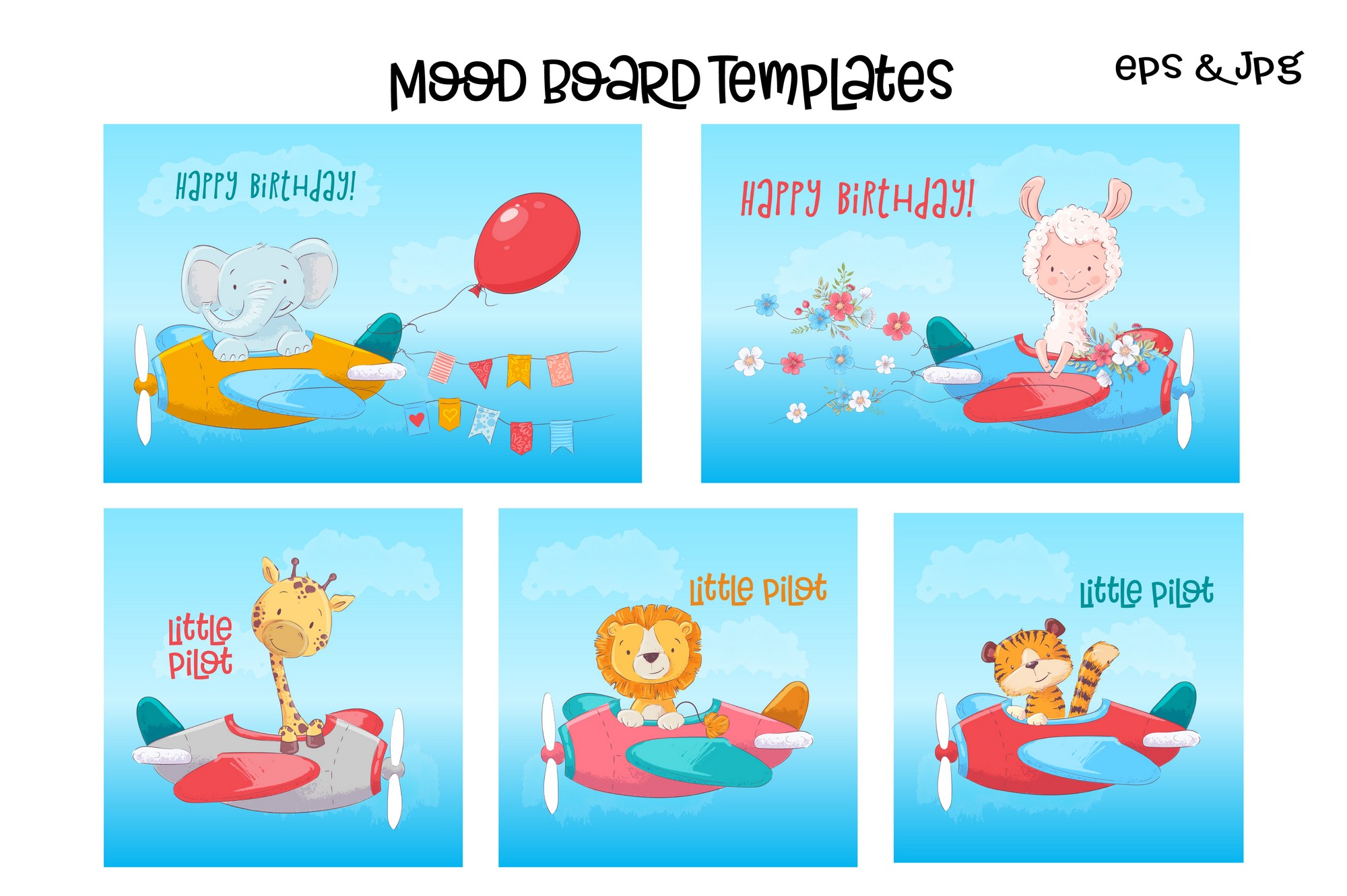 Tropical animals vector clip art example image 2