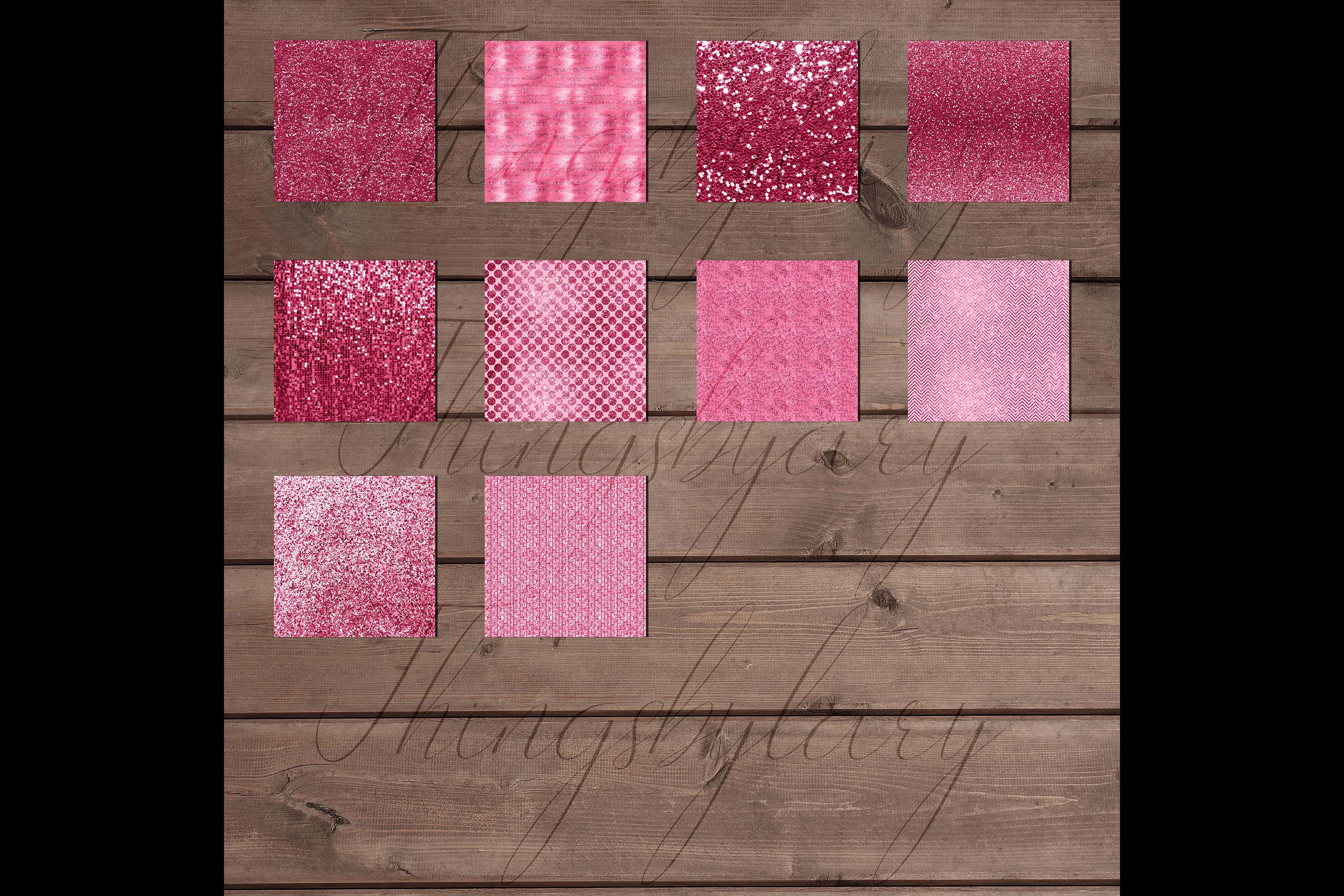 42 Blush Pink Princess Baby Glitter Sequin Digital Papers example image 10