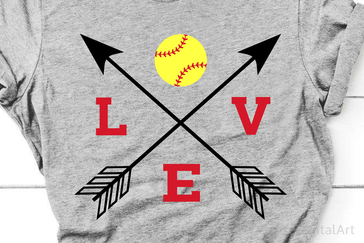 Softball Svg, Love Softball Svg, Softball Mom Svg, Softball example image 1