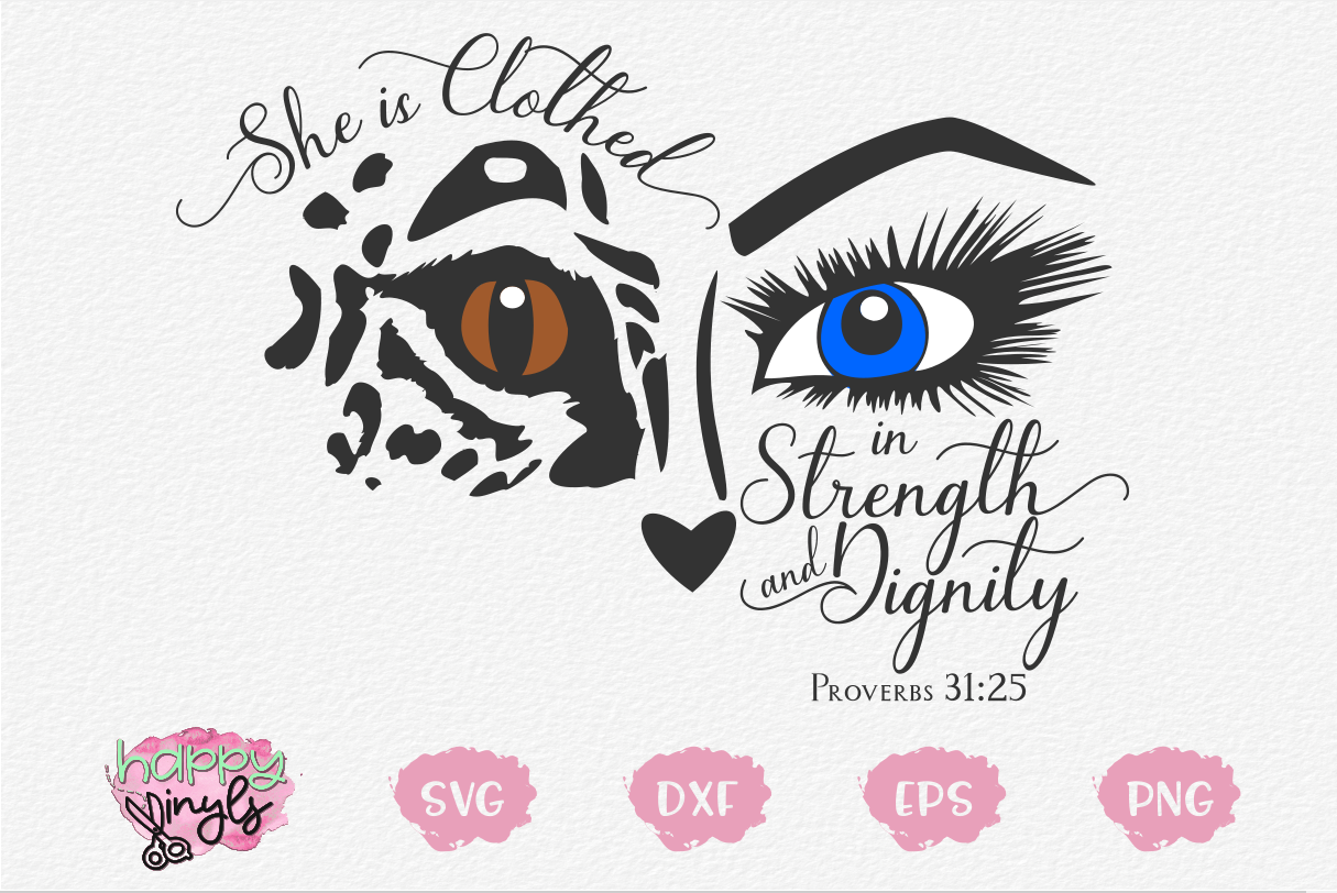 She is Clothed in Strength and Dignity - A Proverbs SVG example image 1