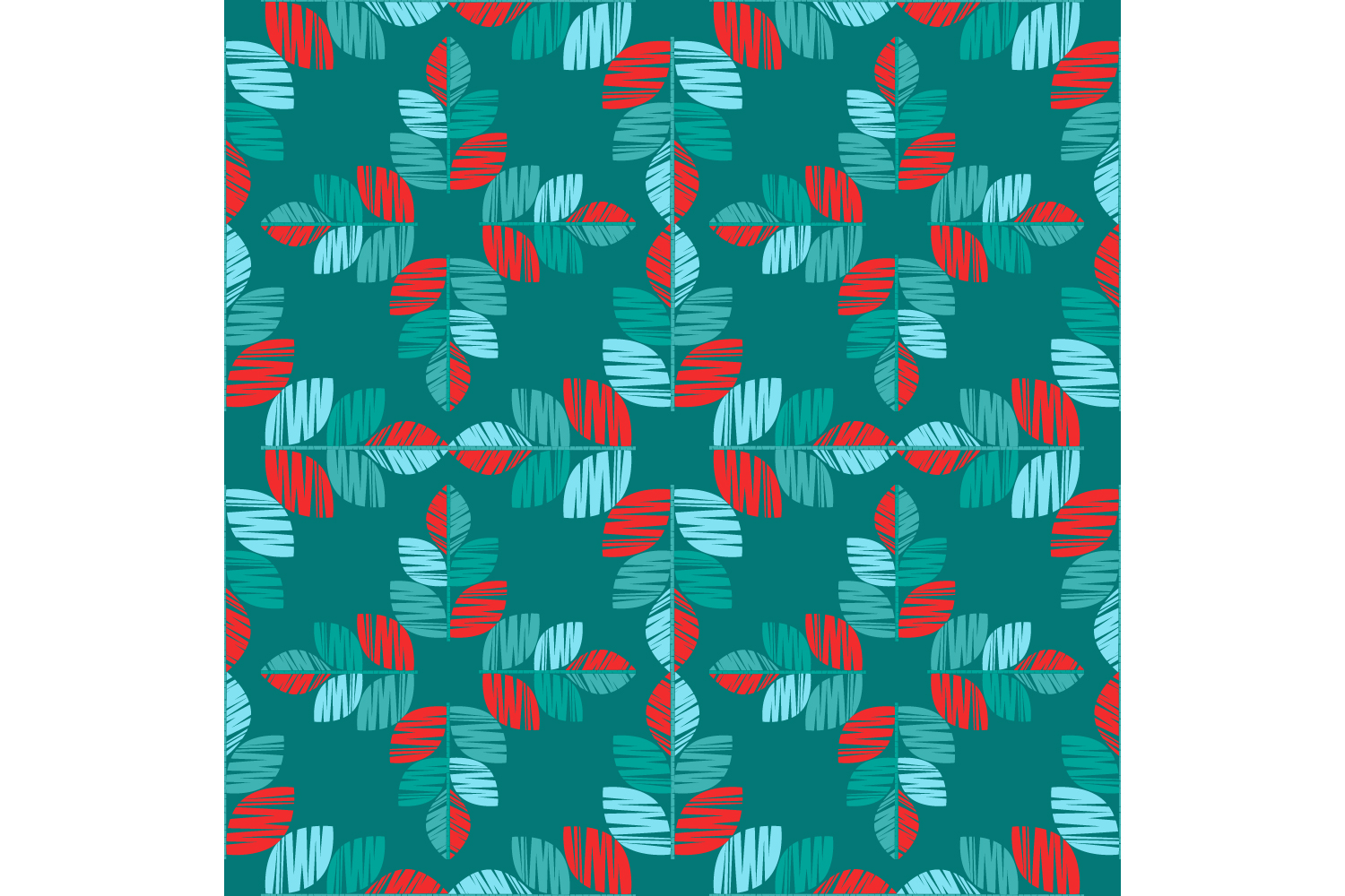 Decorative leaves. Set of 10 seamless patterns. example image 10