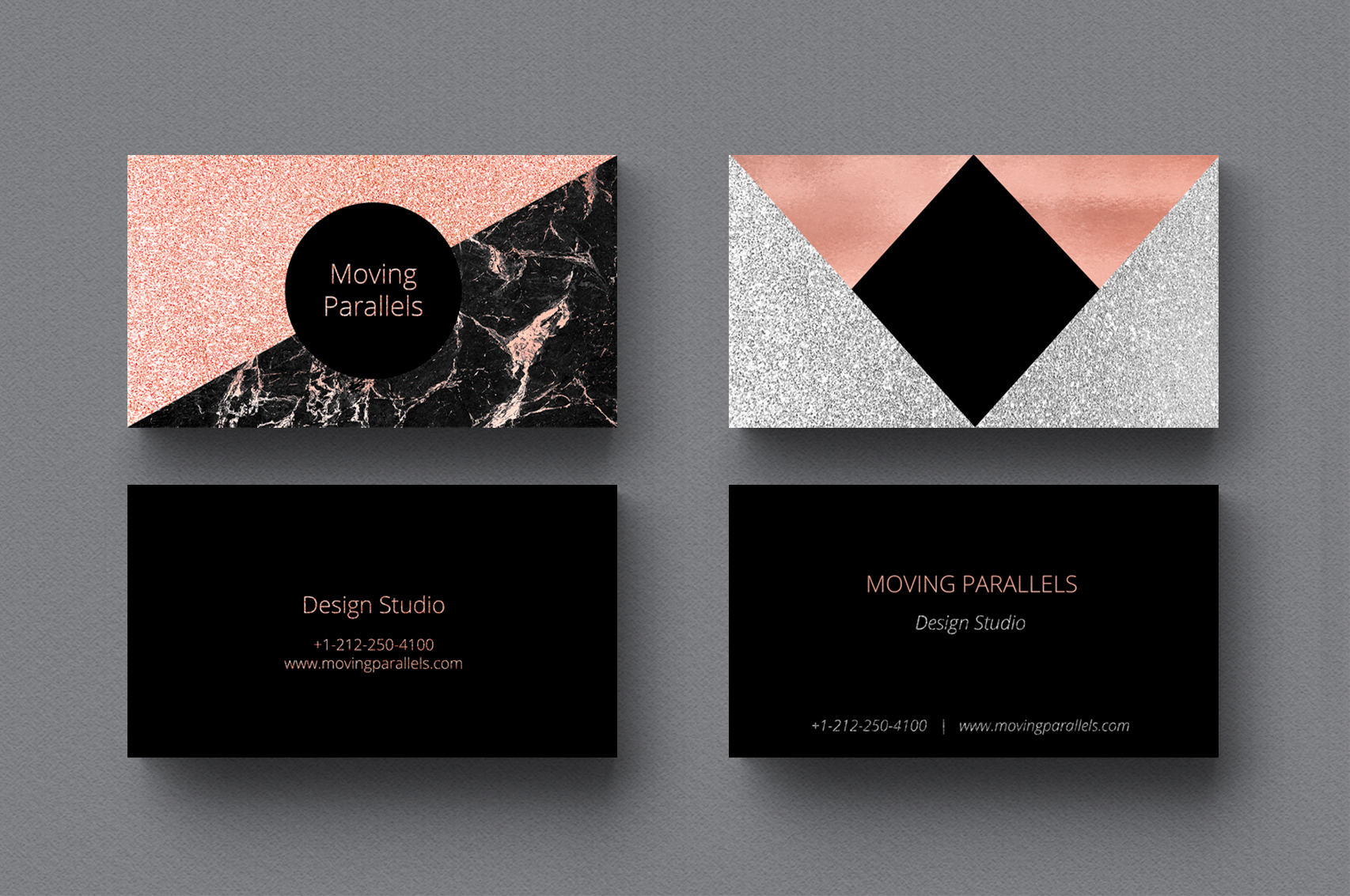 Rose Gold Marble Business Cards Bundle example image 3
