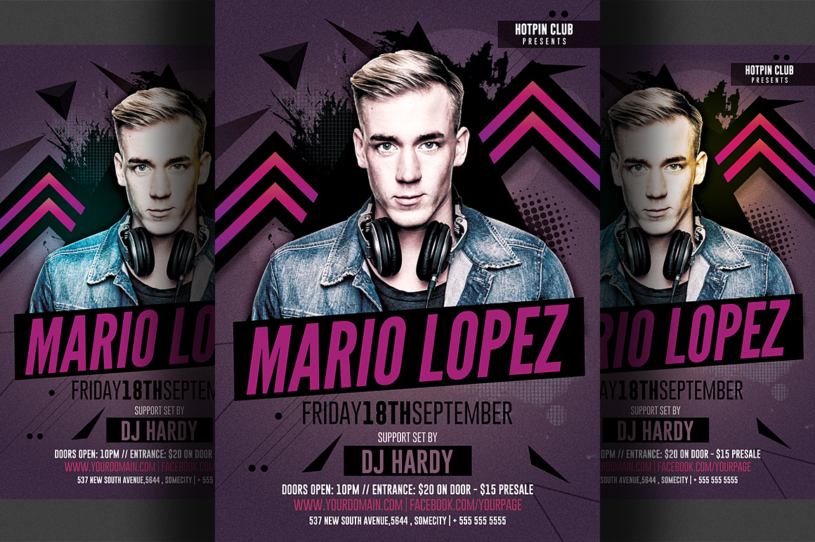 Guest Dj Flyer Template example image 1