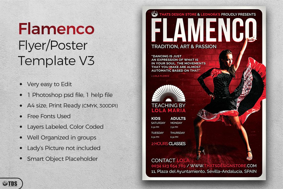 Flamenco Flyer Template V3 example image 2