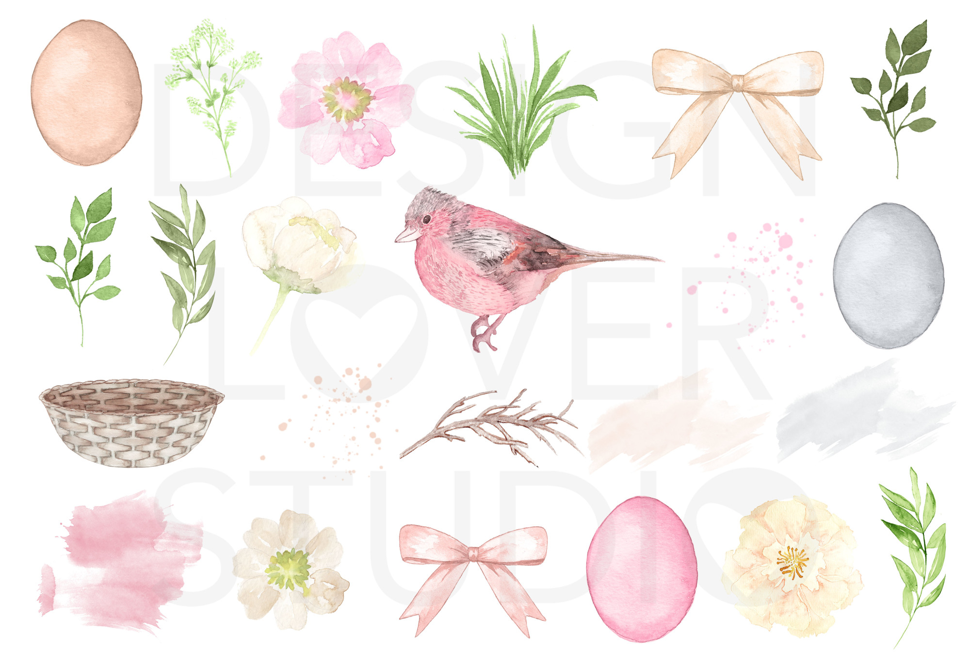 Watercolor Cute Easter design example image 3