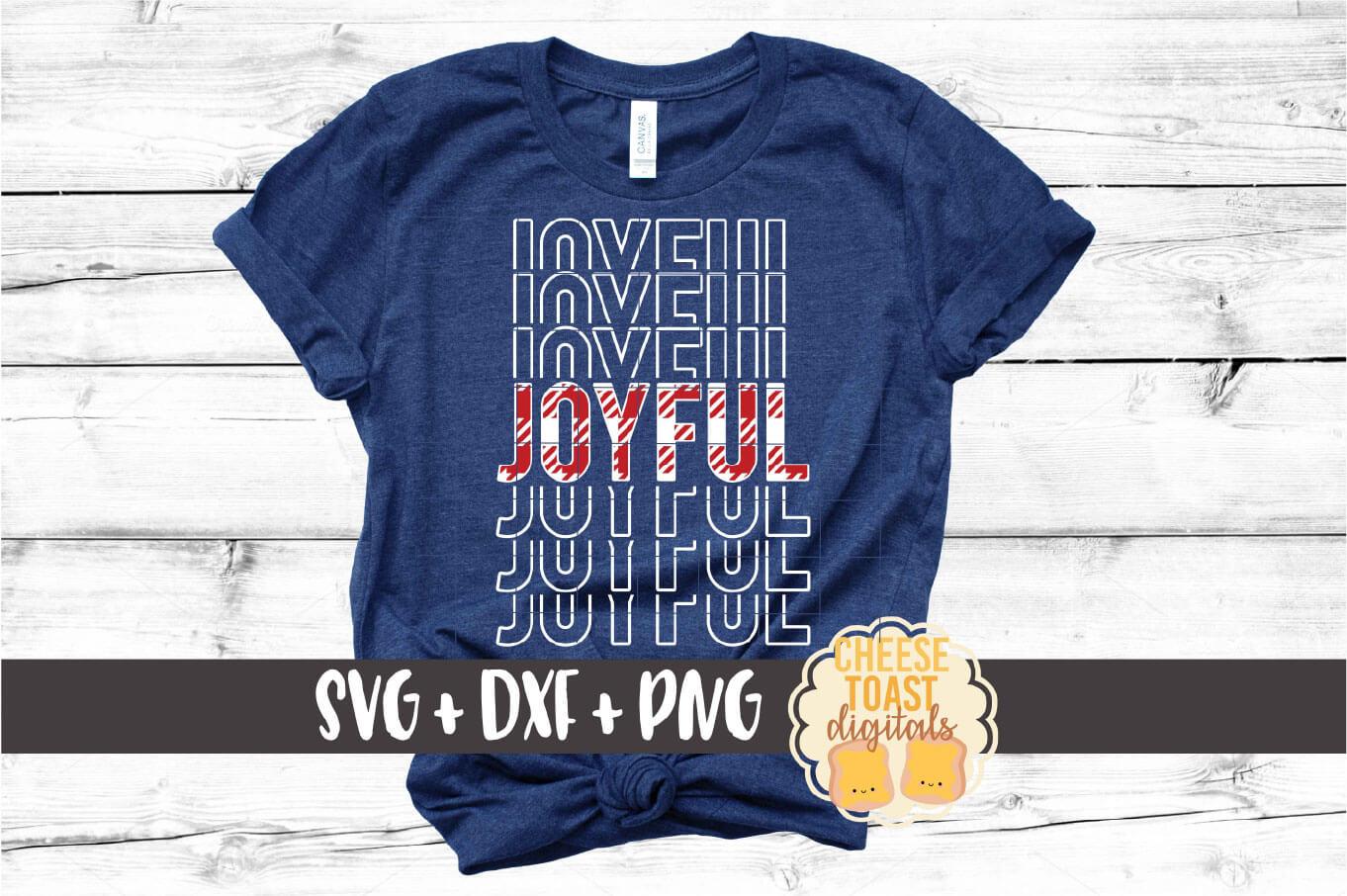 Joyful - Buffalo Plaid Christmas Mirror Word SVG PNG DXF example image 1