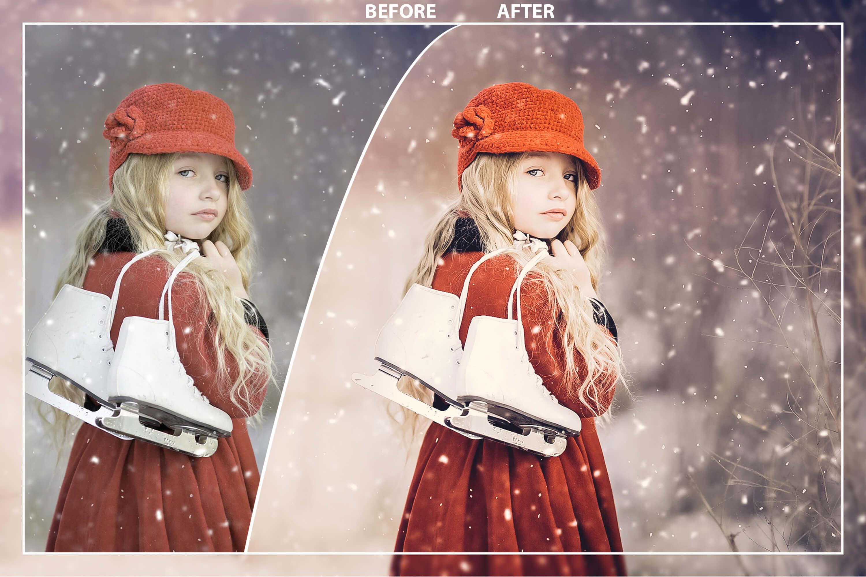 62 Christmas Mobile Lightroom Presets, X-mas Adobe LR preset example image 4