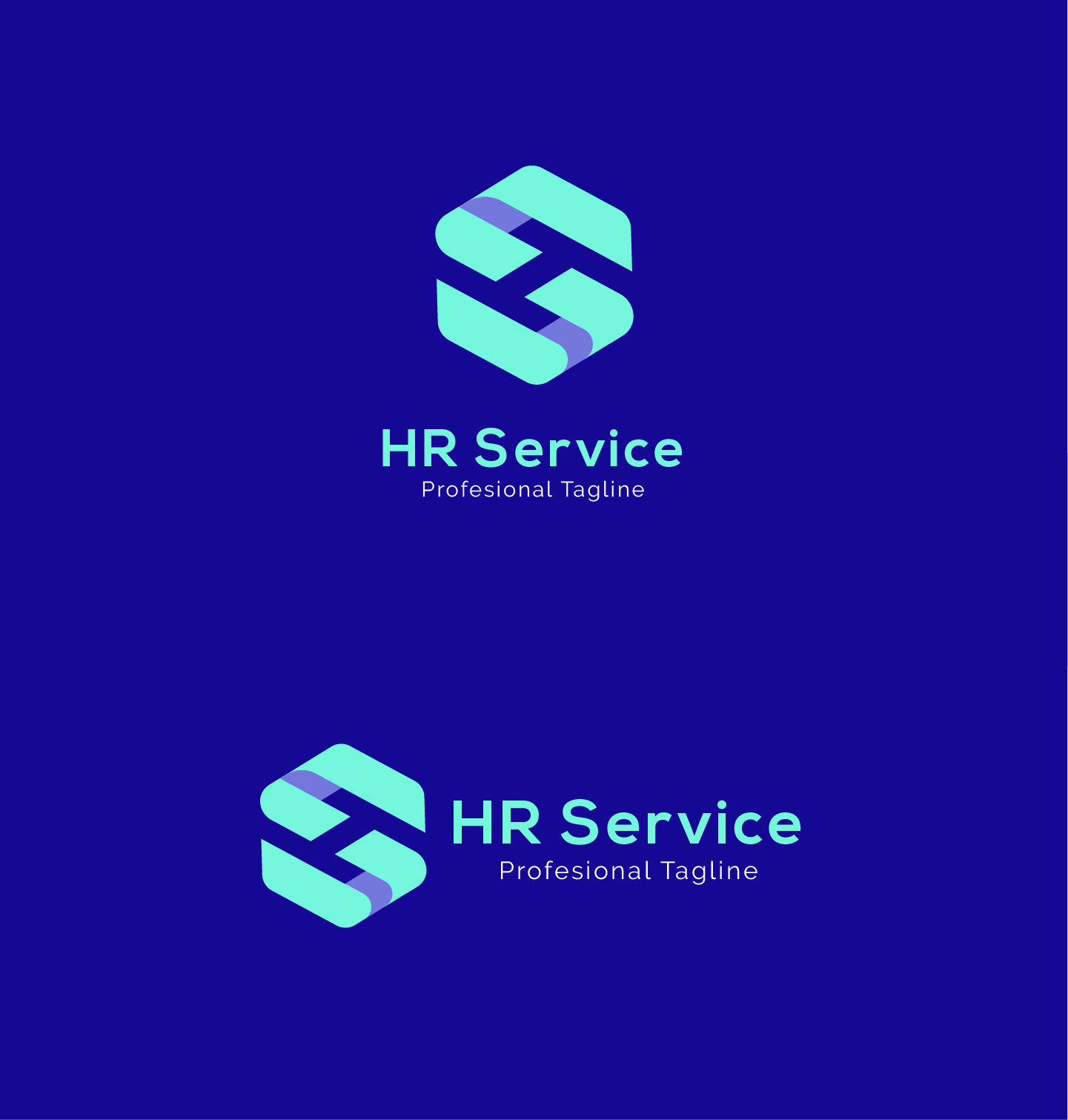 HR Service - H S Letter Logo example image 7