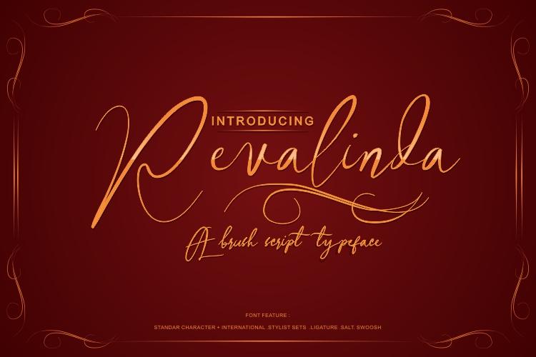 Revalinda Stylist Scripts font example image 2