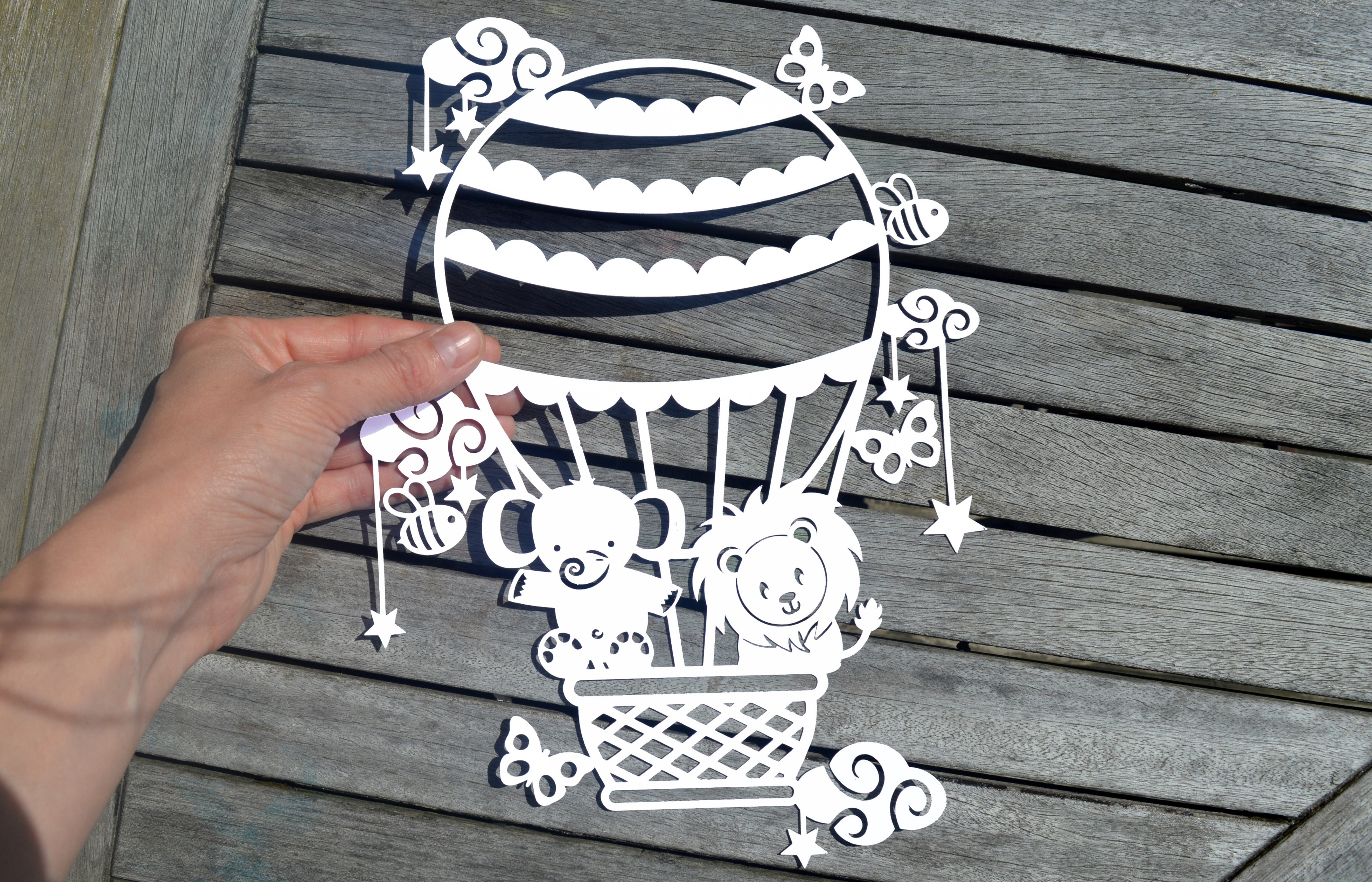 Hot Air Balloon SVG / DXF / EPS files example image 8