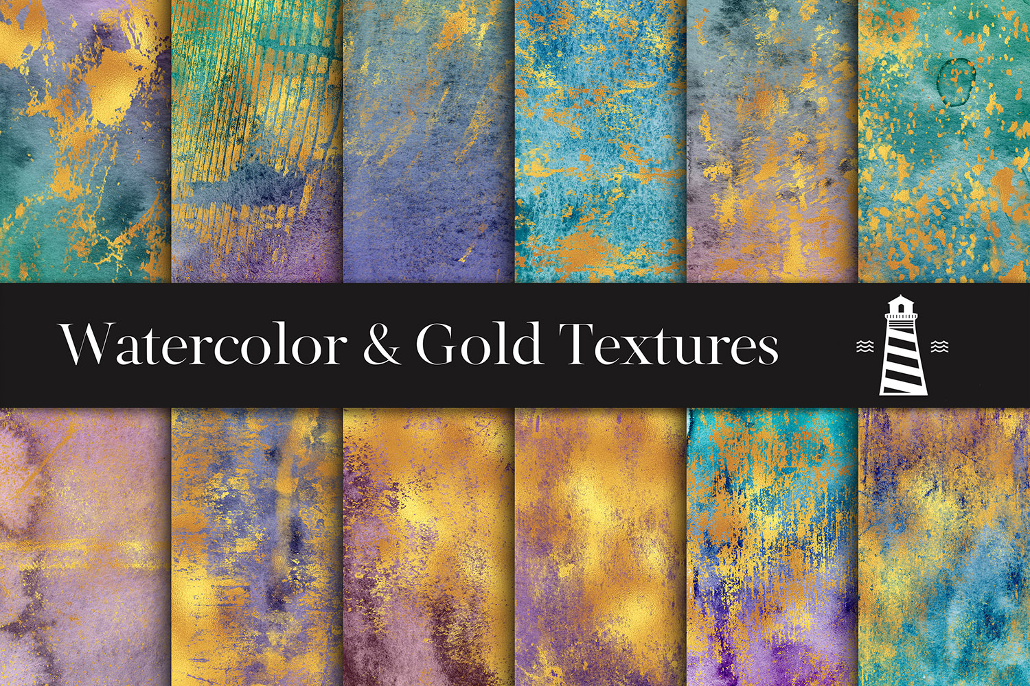 Distressed Gold Textures example image 1