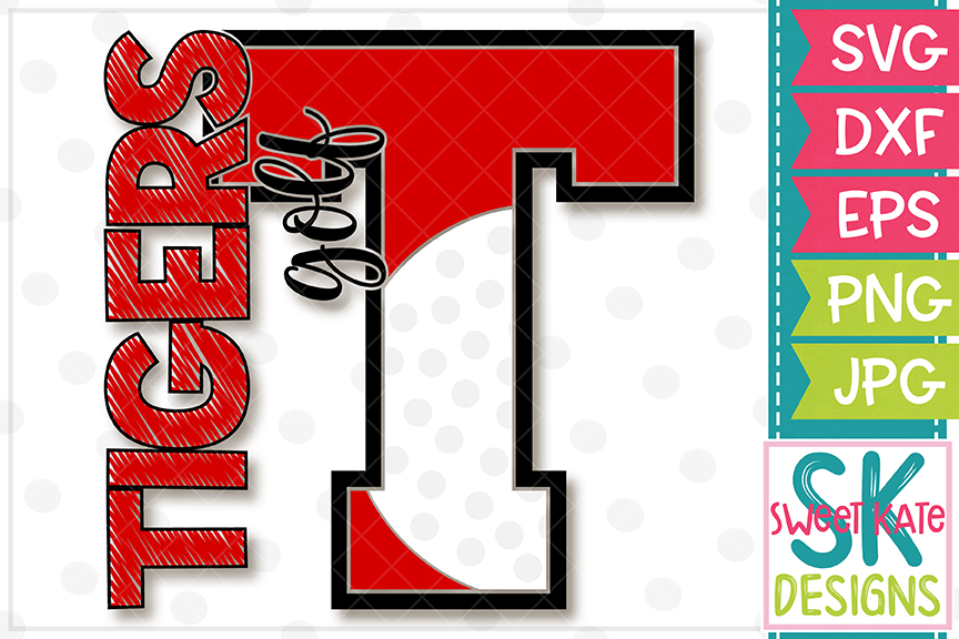 T Tigers Golf SVG DXF EPS PNG JPG example image 4