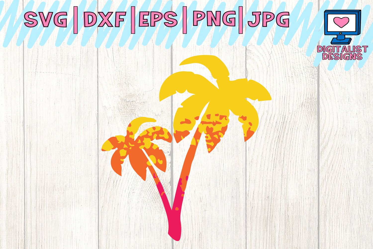 palm tree svg, grunge svg, ombre svg, beach svg, cricut design space, silhouette cameo, svg for cricut, palm tree cut file, beach shirt, summer svg example image 1