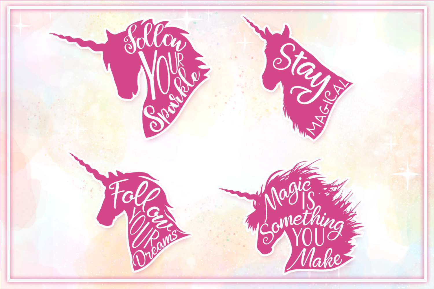 Unicorn SVG Bundle - The Complete Craft Collection example image 3