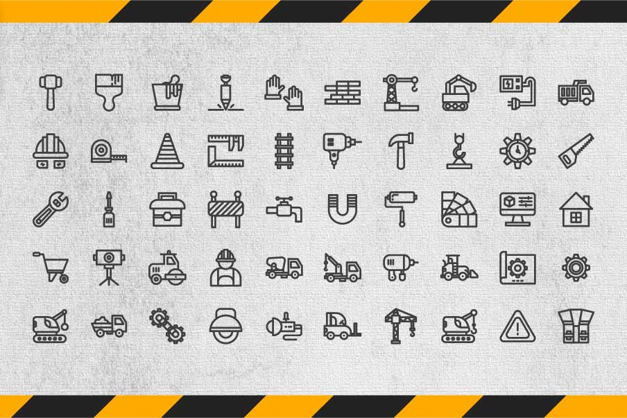 200 Construction Icon Pack example image 2