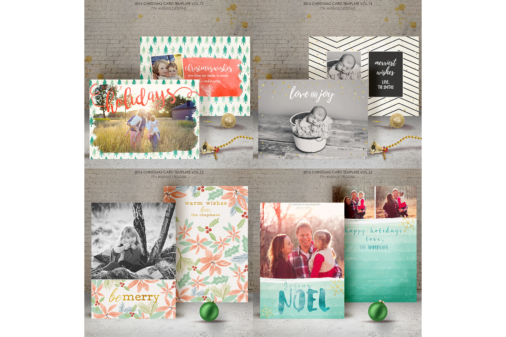 Christmas Cards Templates Collection example image 3
