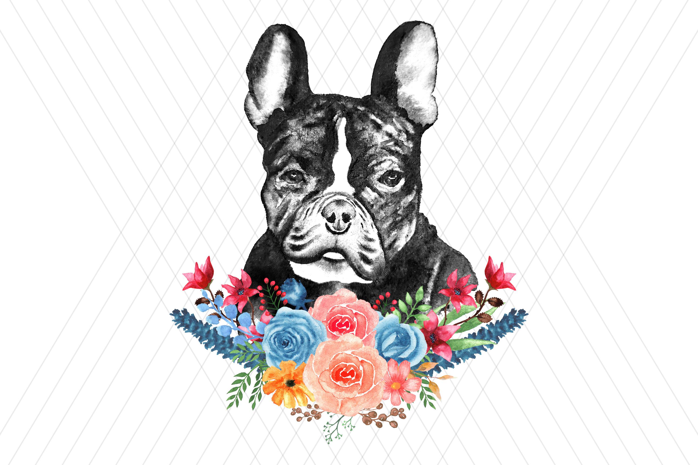 Watercolor DOG clip art example image 5