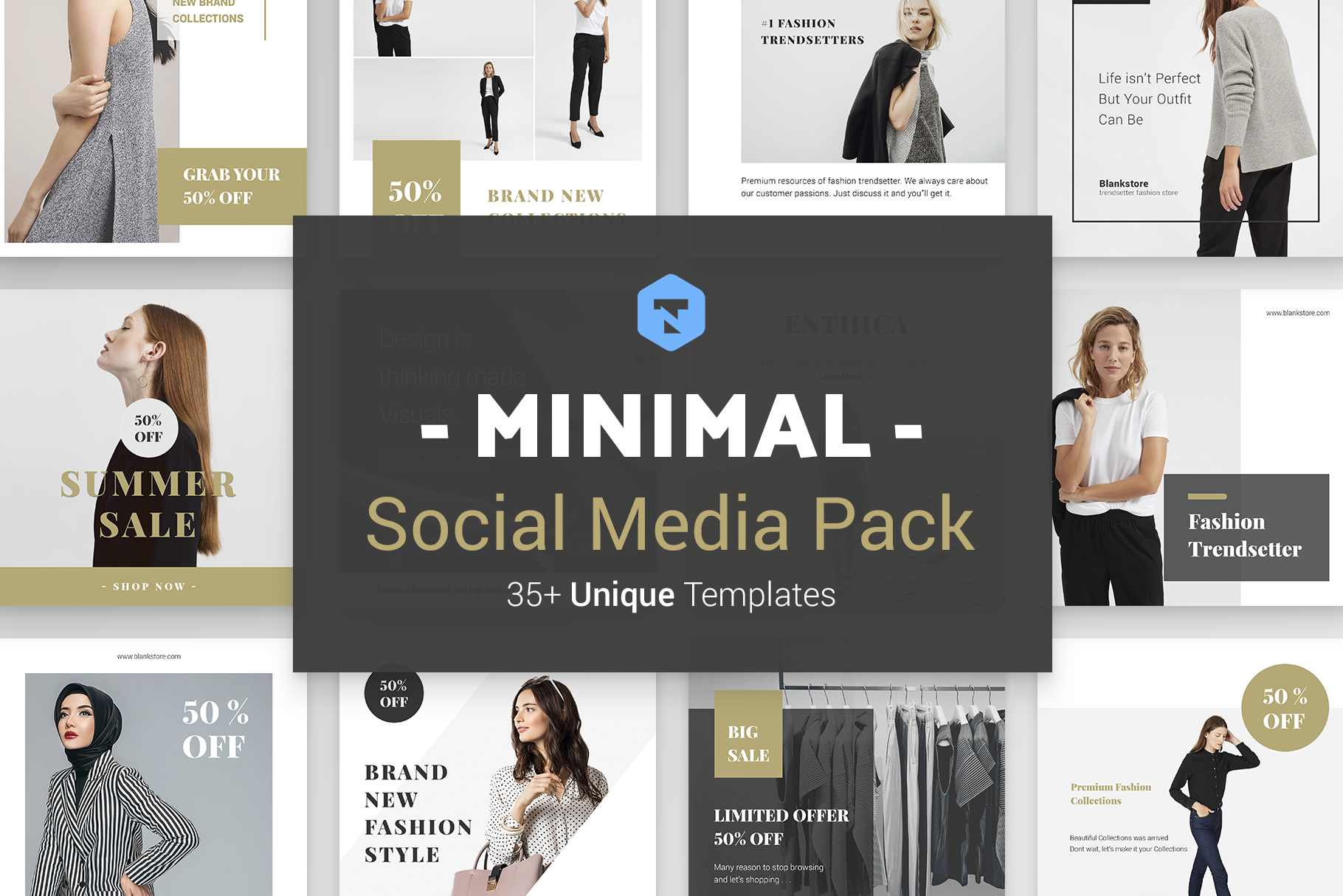 Minimal Social Packs v. 01 example image 1