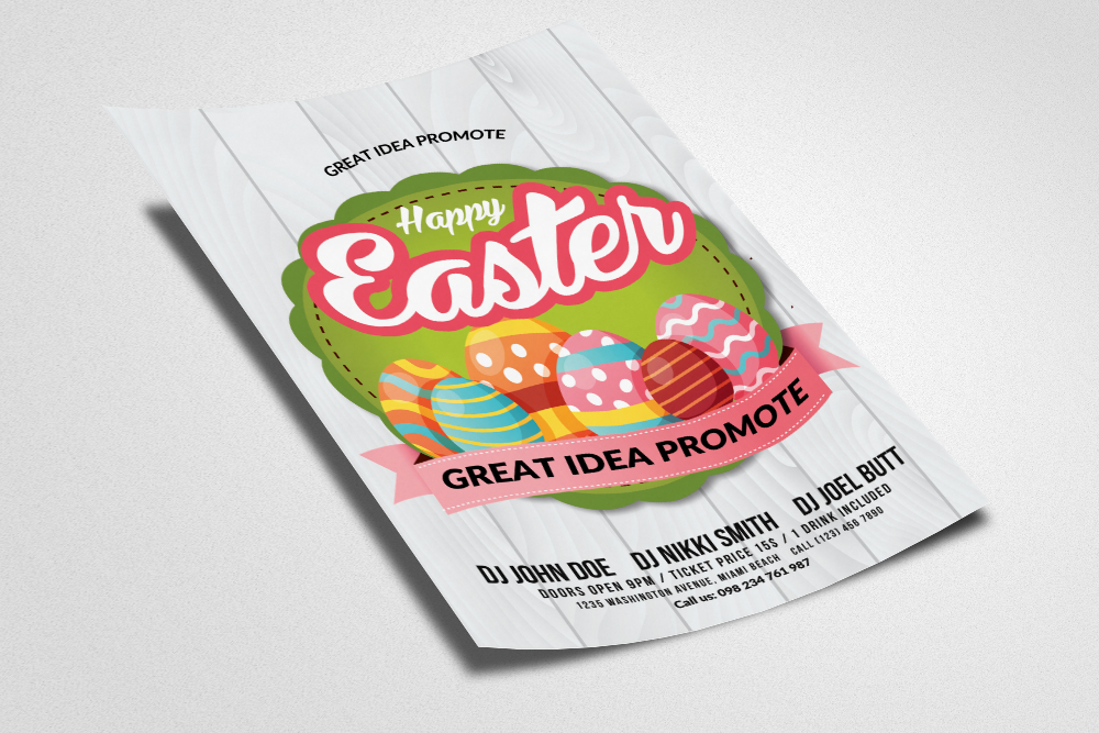 Spring and Easter Flyer Template example image 2