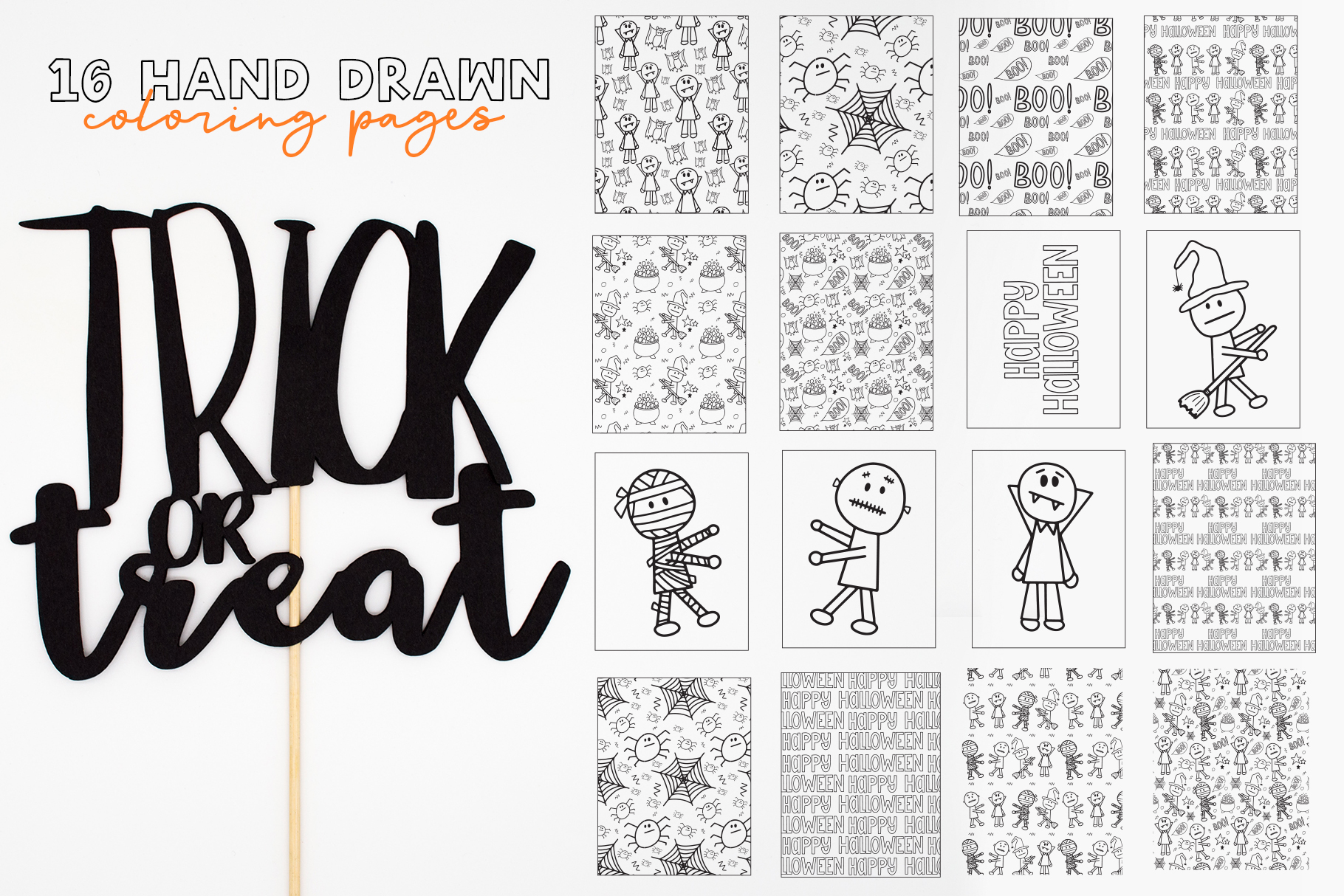 Halloween Coloring Pages & Activity example image 3