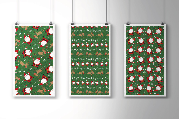 Christmas Patterns Collection. 12 of the jpeg files in resolution 4167*4167 px and 12 files eps8. example image 3