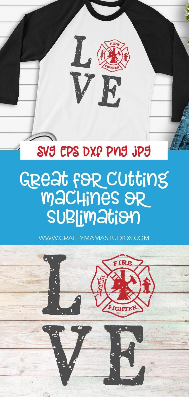 Download Firefighter SVG, Firefighter Love SVG, Firefighter Emblem ...