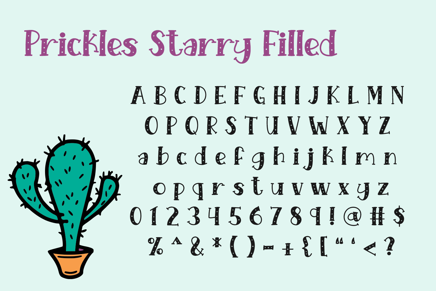 Starry Prickles example image 3