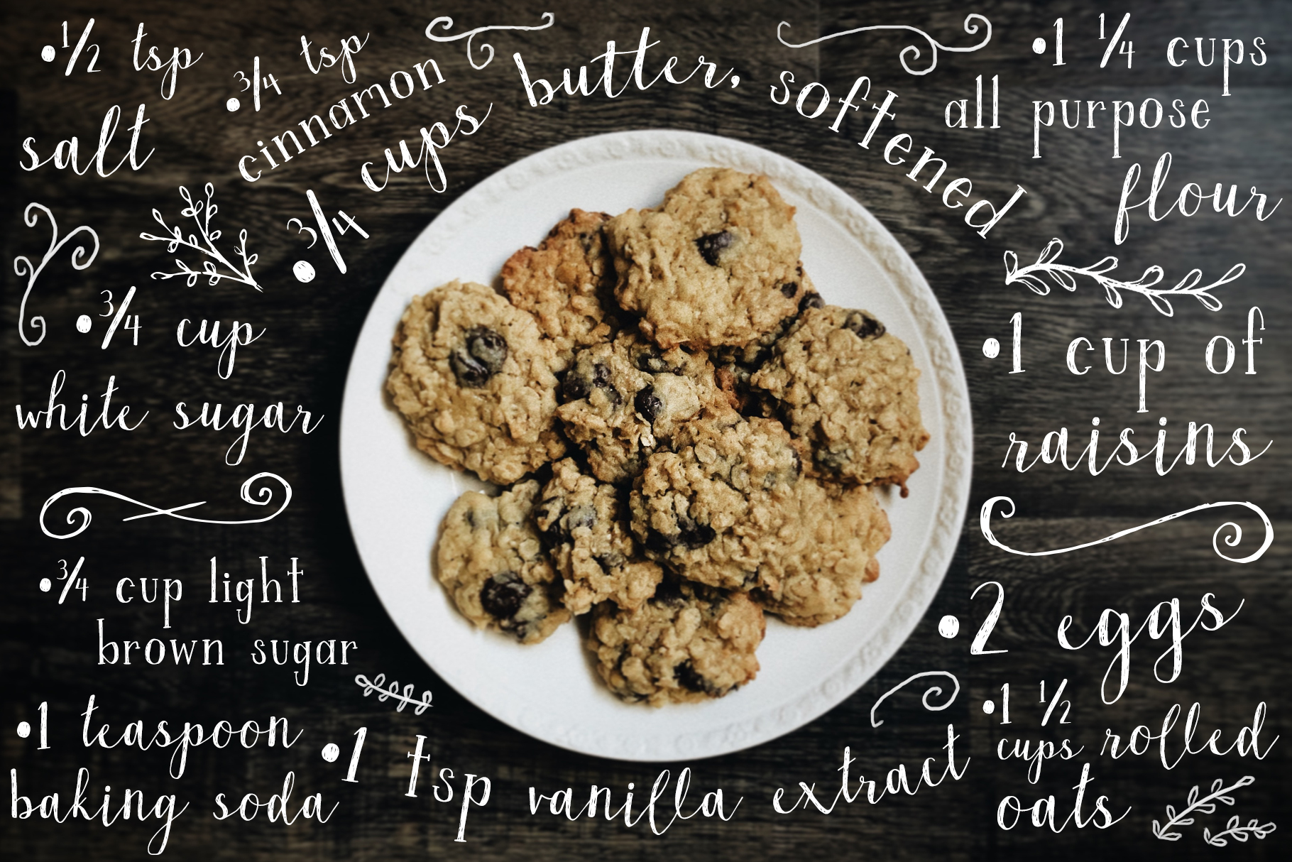 Oatmeal Raisin Script and Serif Font with Extras example image 7