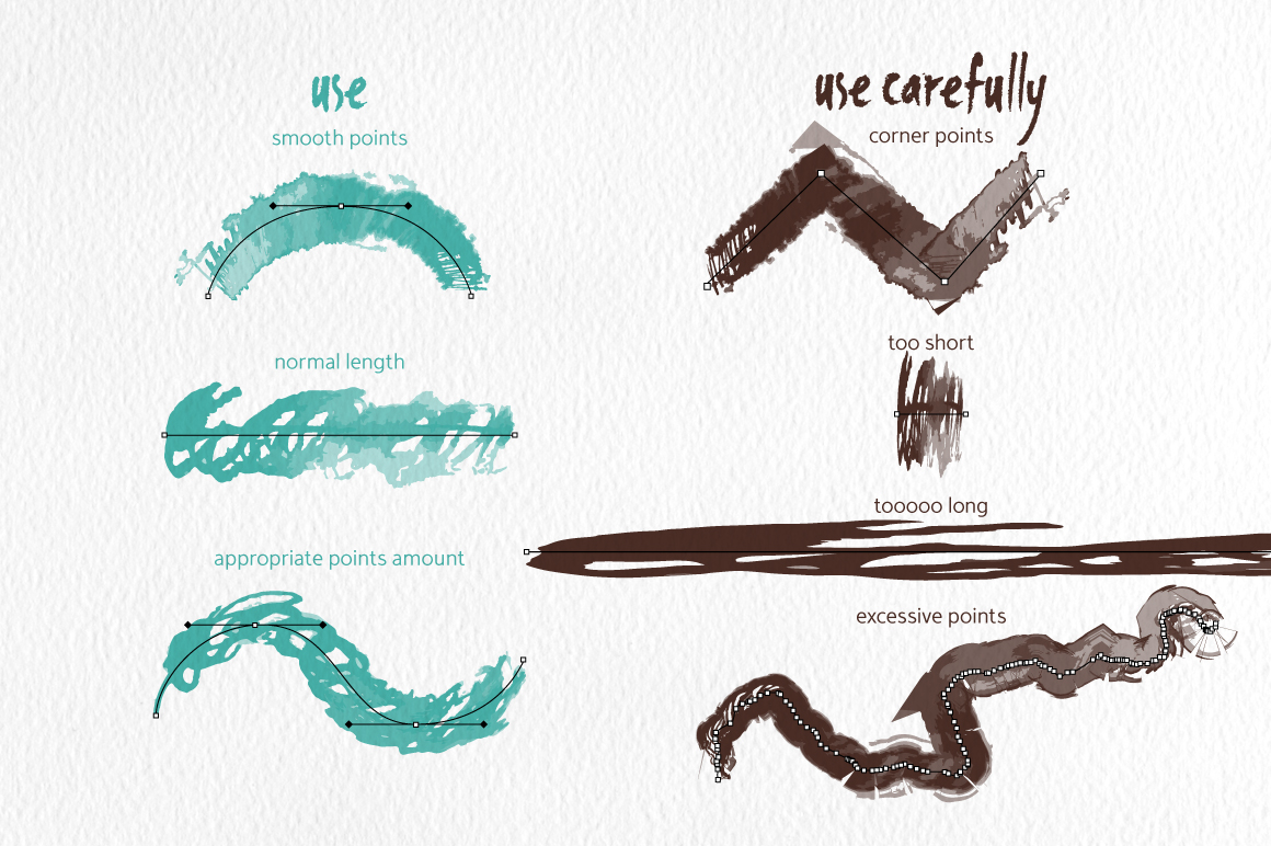 Scribble Brushes for Illustrator example image 5