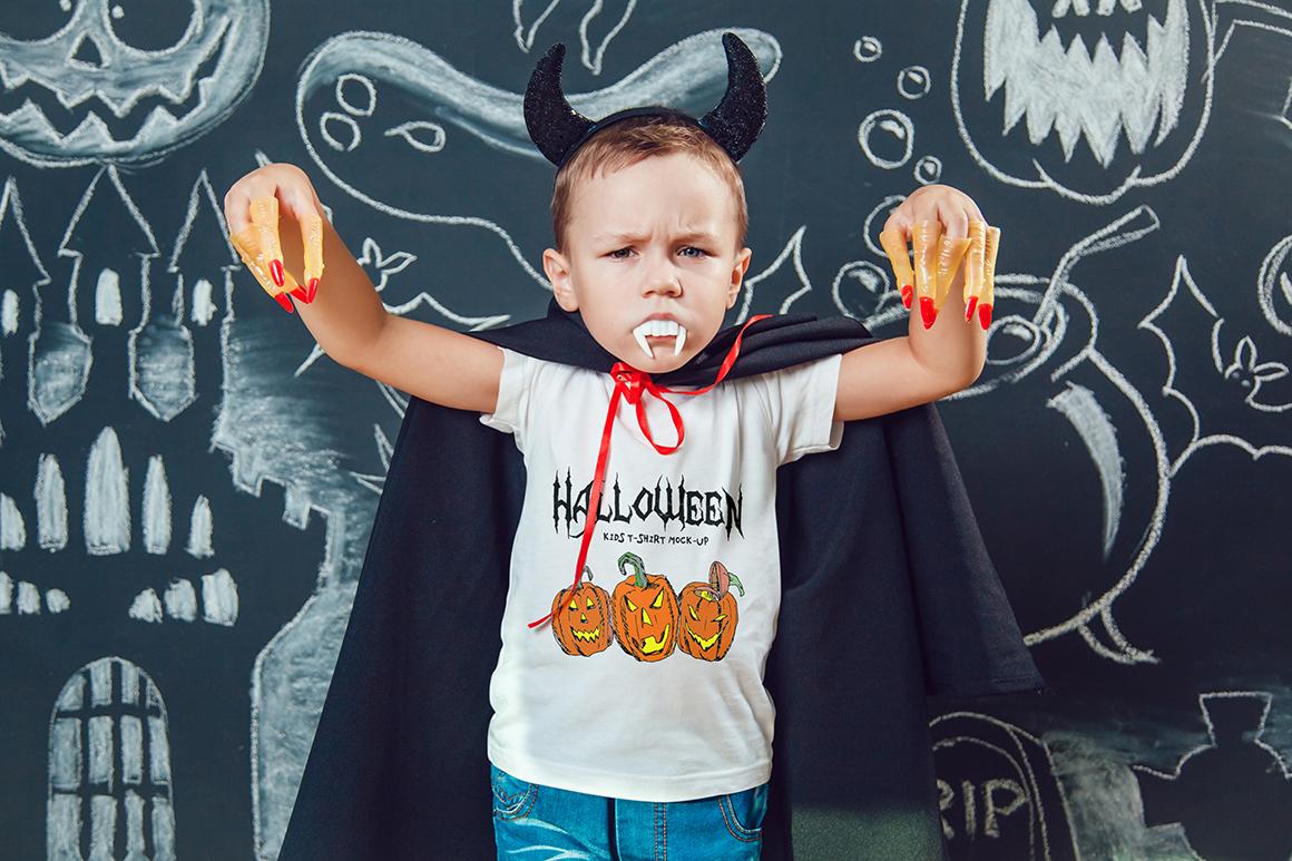 Halloween Kids T-Shirt Mock-Up example image 3