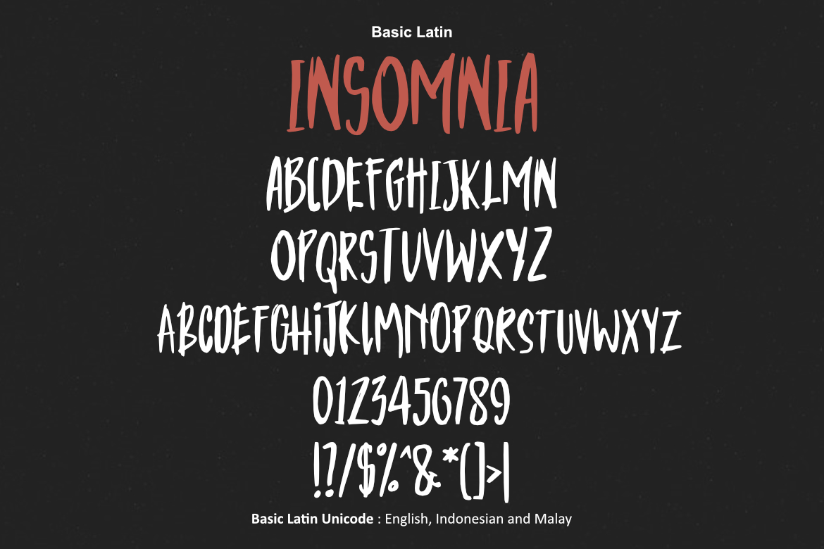 Insomnia Font example image 2
