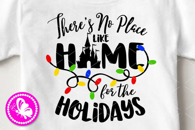 Theres no place like home for the holidays Magic castle svg example image 1
