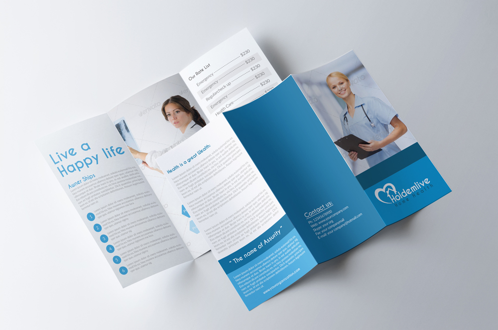 Medical Doctor Trifold Brochure example image 2